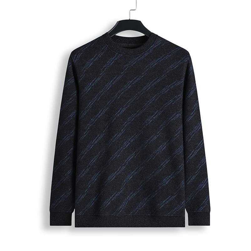 Plus Size 8XL 7XL 6XL  NEW Cashmere Sweater Men Brand Clothing Mens Sweaters Print Casual Shirt Pullover Men Pull O-Neck