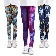 SheeCute girls print leggings Baby Girl Clothes Kids Print Flower Skinny leggings SC1752 cheap Polyester spandex NONE Full Length Fits true to size take your normal size Elastic Waist Pencil Pants Children