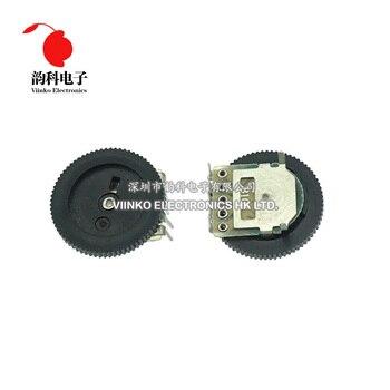 Potenciómetro de ajuste de doble engranaje B503 50K ohm 5 pines 16*2mm, potenciómetro de rueda de volumen cónico de Dial, 10 Uds.