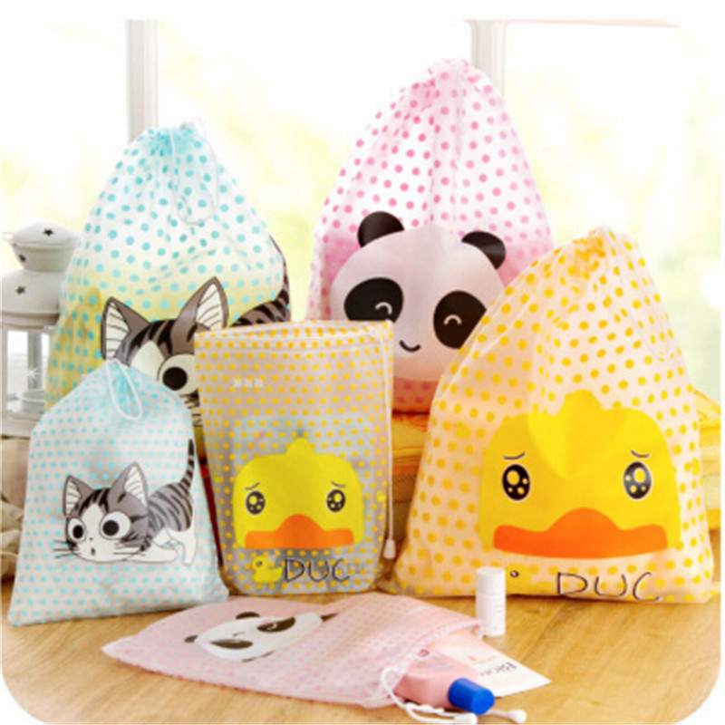 2020 Women And Girl Cartoon Cute Travel Cosmetic Bag Makeup Bag Waterproof Pouch Toiletry Storage Organizer Wash String Case