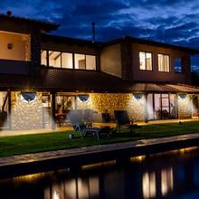 Solar Light 100 LED Power PIR Motion Sensor Wall Lights Outdoor Garden New Year Street Lamp Waterproof Solar Sunlight Powered