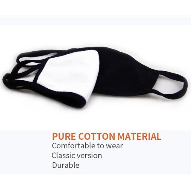 Cotton Dust Mask Cycling Anti-Dust Half Face Mask Cartoon Expression Teeth Muffle Chanyeol Face Respirator Anti Kpop Bear Mask 5