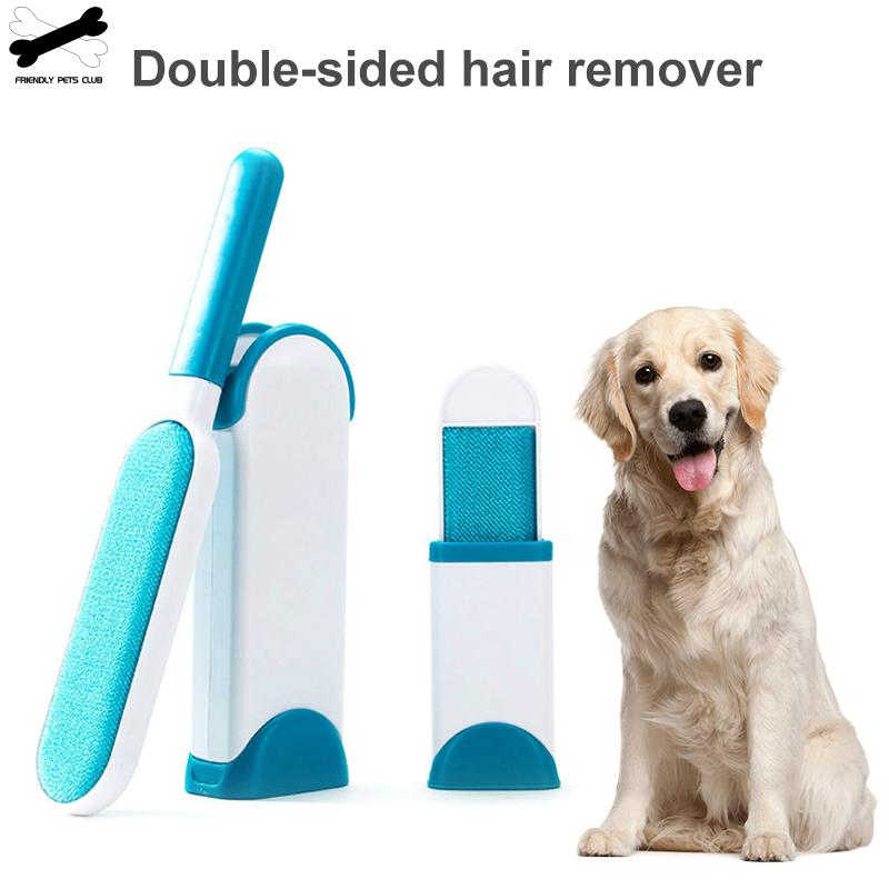 Pet Hair Remover Brush Double Sided Lint Fur Brush Self-cleaning Three Piece Of Suit  For Clothing Furniture Universal Dog Cat