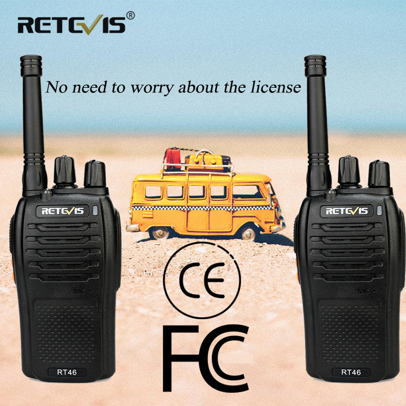 Image 2 - A Pair RETEVIS RT46 Walkie Talkie PMR Radio PMR446/FRS Portable Two Way Radio VOX Micro USB Charging  Li ion (or AA) Battery-in Walkie Talkie from Cellphones & Telecommunications