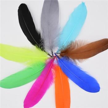¡Novedad! ¡venta al por mayor! Plumas de ganso naturales perfectas 500 unids/pack plumas de 6-8 pulgadas para decoración de bodas, decoración de joyas