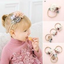 0-3Years, одежда для малышей, Детский костюм для новорожденных с цветочным узором для девочек тюрбан принцессы цветочные резинки для волос аксессуары Головные уборы