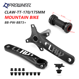 Image 1 - PROWHEEL 104BCD 산악 자전거 크랭크 셋 170mm 175mm 크랭크 및 하단 브래킷 BB MTB 크랭크 알루미늄 합금 자전거 부품