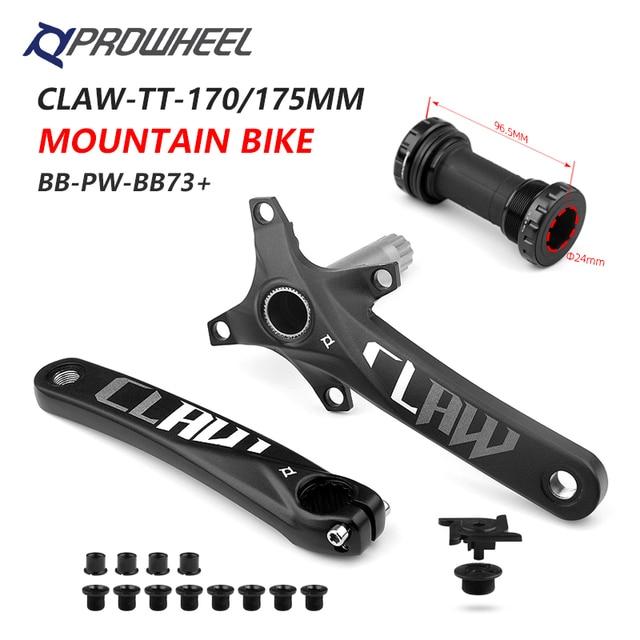 PROWHEEL 104BCD 산악 자전거 크랭크 셋 170mm 175mm 크랭크 및 하단 브래킷 BB MTB 크랭크 알루미늄 합금 자전거 부품