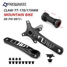 PROWHEEL platos y bielas 104BCD para bicicleta de montaña, manivela y soporte inferior de 170mm y 175mm, piezas de aleación de aluminio para bicicleta de montaña BB MTB