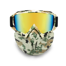 Motor-Cycle Goggles Mask Detachable, Helmet Sunglasses Protect Padding, Night Vision Road Racing UV Glasses