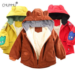 Girl Outerwear Warm-Jackets Hooded Baby-Boy Sports Kids Winter Children's New And 3-Colors