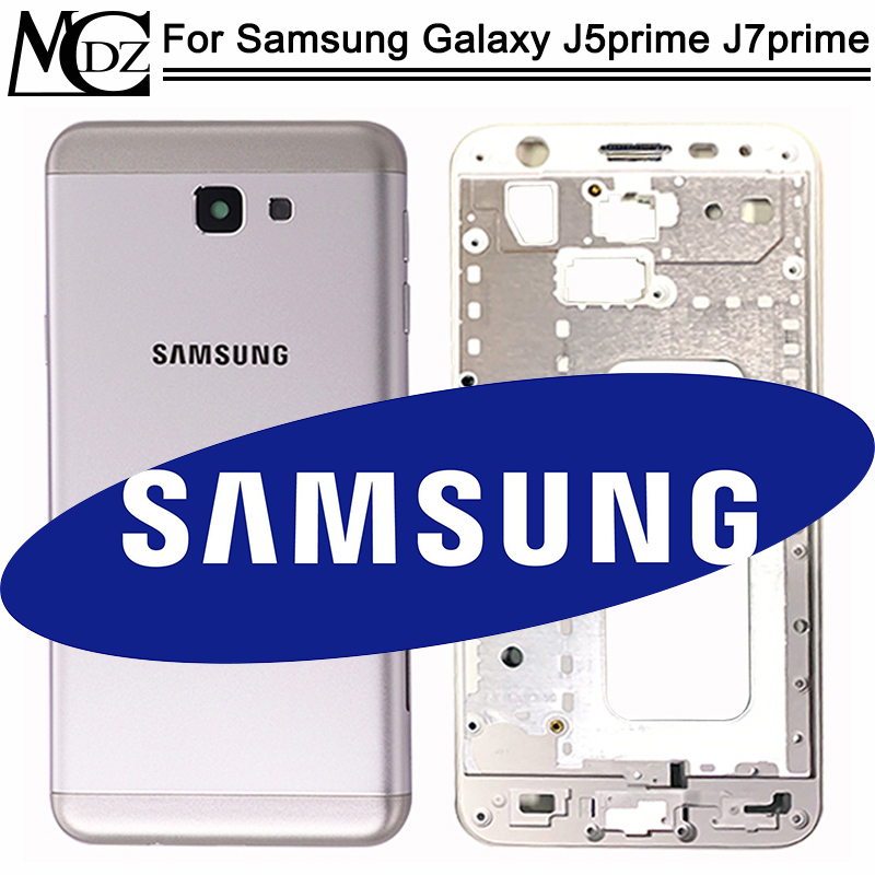New J5 Prime / J7 Prime Battery Cover For Samsung Galaxy J5 Prime / J7 Prime Full Housing Mid Bezel Back Door+Middle Frame