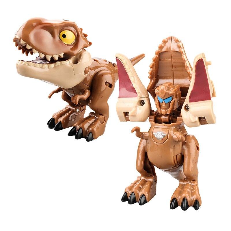 Kids Tyrannosaurus Carnotaurus Raptor Deformation Mecha Dinosaur Robot Toys for Children Building Block Toys Birthday Xmas Gift