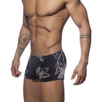 Bañador con bolsa de pene para hombre, bañadores Push Up, calzoncillos Boxer, Negro, Hombre, Gay, Sexy, Sunga, ropa interior de natación