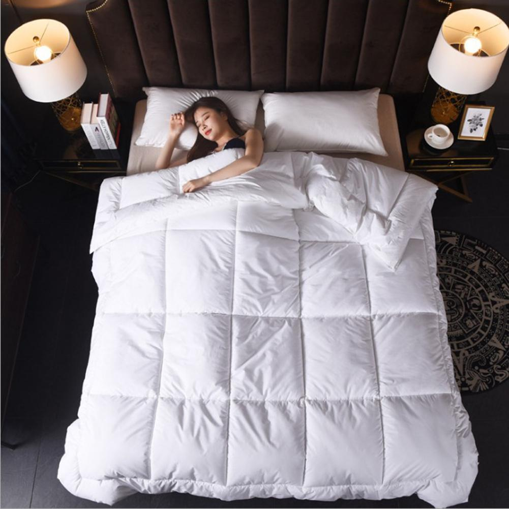 3d Luxury Goose Down Duvet Quilted Quilt King Queen Full Size Comforter Winter Thick Blanket Solid Color Suit All-Season