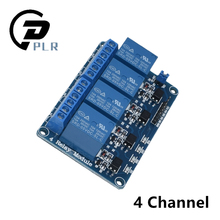 10pcs 4 channel relay module 4 channel relay control board with optocoupler. Relay Output 4 way relay module