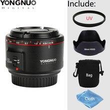 Yongnuo yn50mm f1.8 ii grande abertura lente de foco automático para canon bokeh efeito lente da câmera para canon eos 70d 5d2 5d3 600d 550d