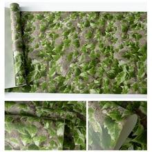 wallpaper decorate book shop entertainment venue restaurant fresh retro ivy mural wallpaper3d distinctive green leaf background