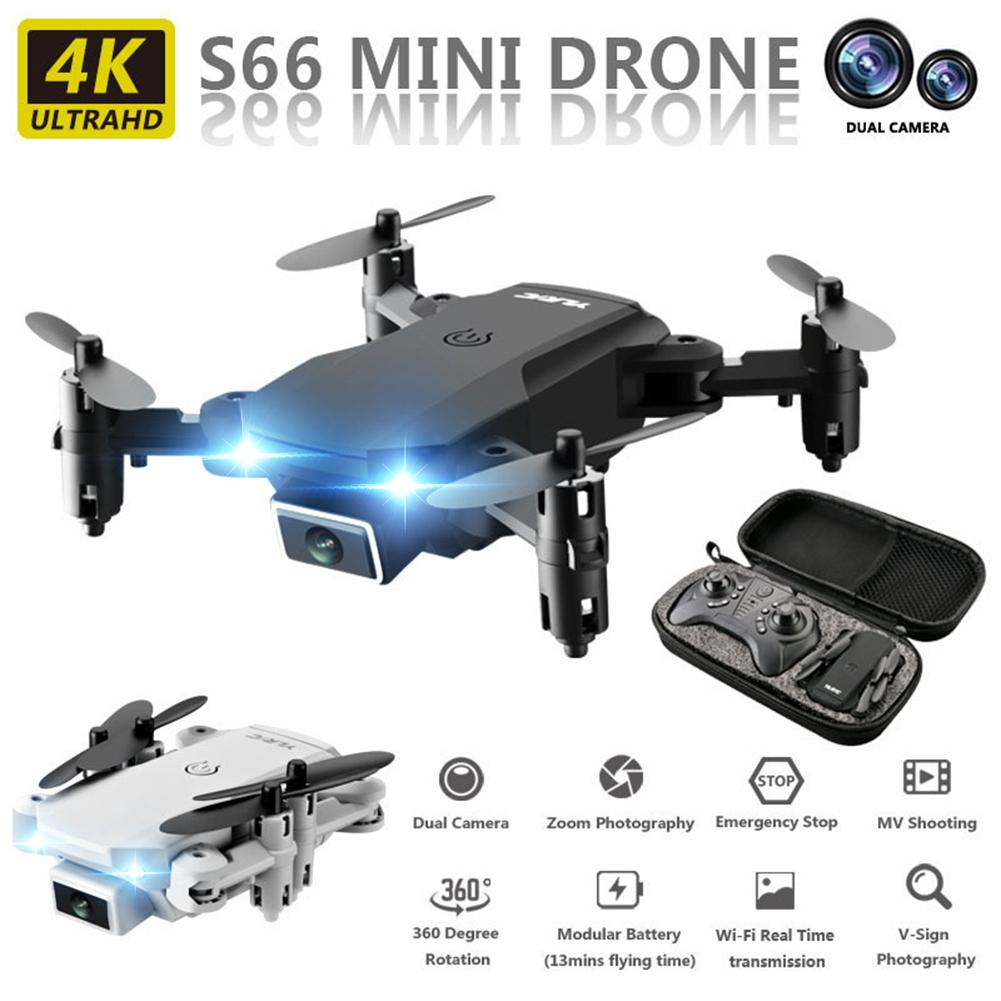 S66 Drone 720P 4K HD Aerial Camera Quadcopter OpticalFlow Hover Smart Follow Remote Control Helicopter With Camera