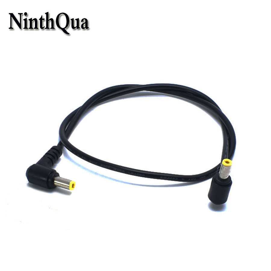 10Pcs DC 5.5x2.1mm Male Plug Right Angle 22AWG Power Connector Cord Cable 1.5M