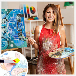 Paint-Paintings Picture-Drawing Acrylic-Oil By Numbers Canvas-Coloring Personality DIY