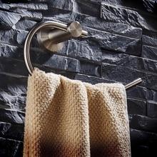 Твердый нержавеющая сталь серебро отделка ванная полотенце кольцо ванная аксессуары полукруг полотенце кольцо вешалка