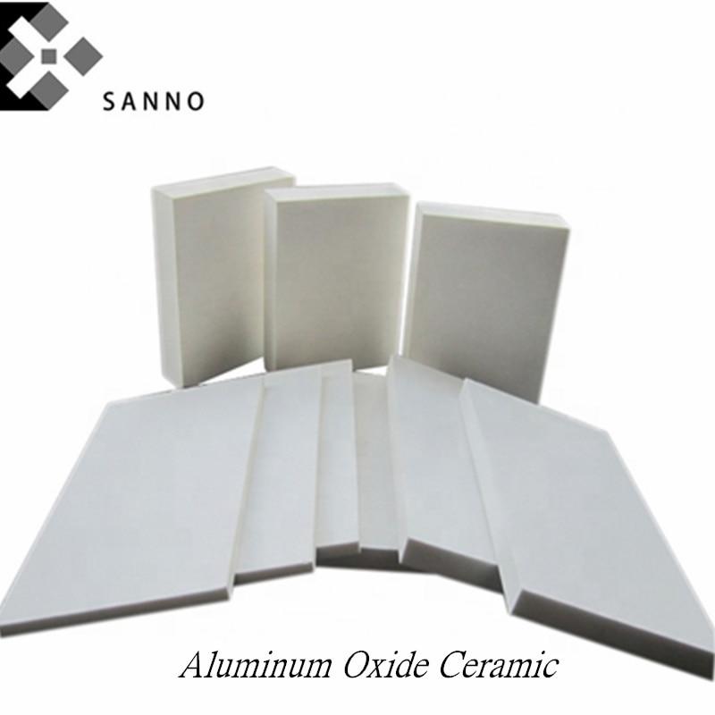 2PCS Insulation Industrial Ceramic 100mm - 185mm Alumina Tin Sheet Customize Aluminum Oxide Wear Ceramic Refractory Heat Plate