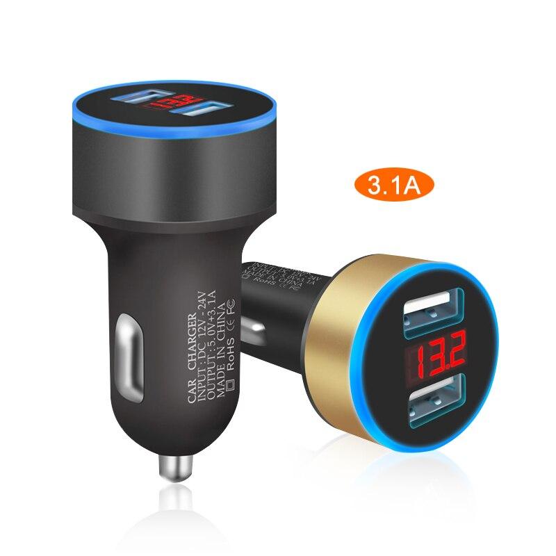 Автомобильное зарядное устройство с двумя USB-портами, 5 В, 3,0 А