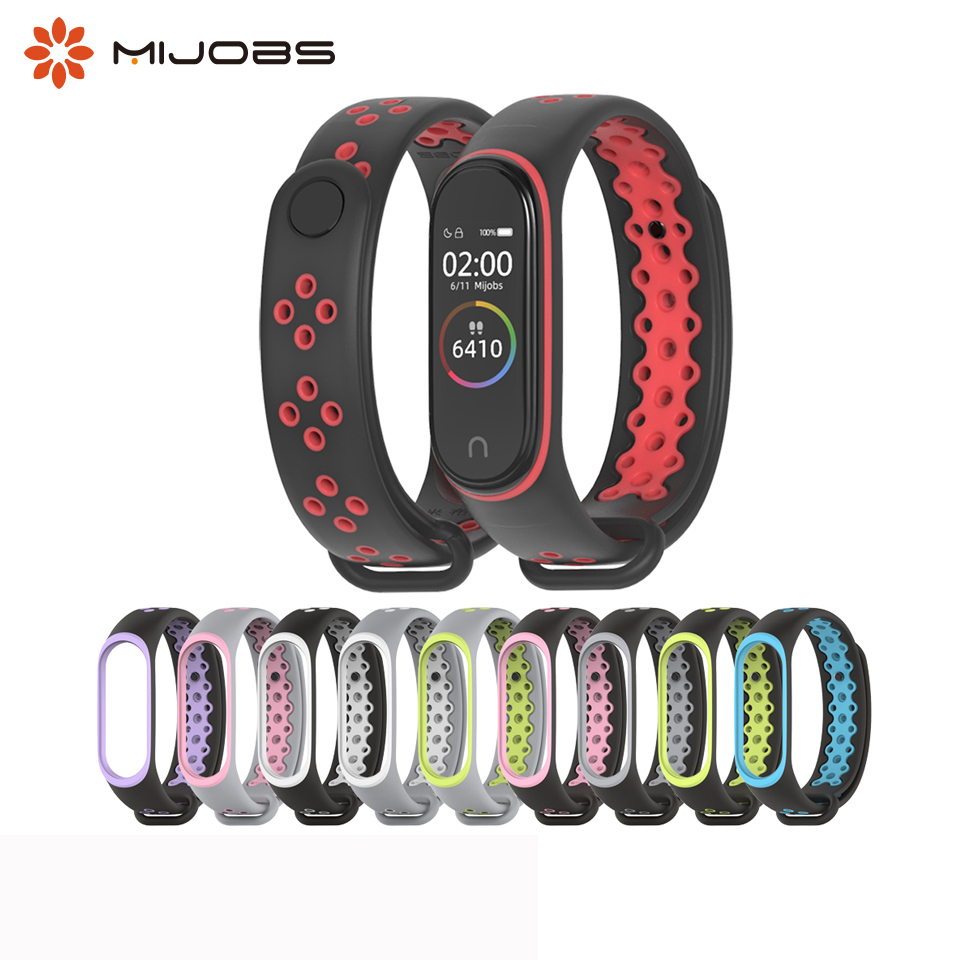 Mi Band 4 Strap Sport Wrist Silicone Strap For Xiaomi Mi Band 3 Smart Watch Bracelet Miband 3 4 Band Accessories Mi4
