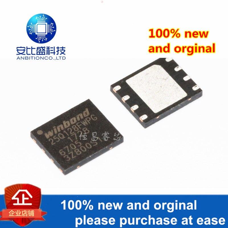 2pcs 100% New And Orginal W25Q128FWPIG Silk-screen 25Q128FWPG 128Mbits QFN In Stock