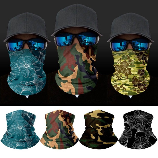 3d camouflage solid bandana neck g
