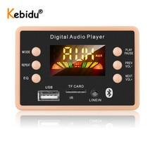 Kebidu Wireless Bluetooth 5.0 MP3 Decoder Board Module 5V to 12V AC6926 Chipset FM Radio Module MP3 FLAC WMA WAV For Car Kit