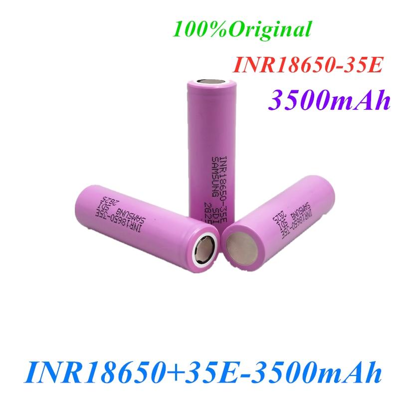 1 ~ 20 шт. 100% оригинальный аккумулятор 35e 18650 для samsung, 3500 мАч, 13A разряд, INR18650, 35E, 18650, литий-ионный аккумулятор 3,7 В, аккумуляторная батарея