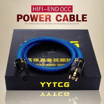 YYTCG Hifi Power Cable Hi-end 6N OCC Power Cord With European Power Plug