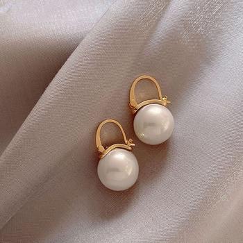 Lady Style Pearl Pendant Earrings Jewelry Pearl Jewelry