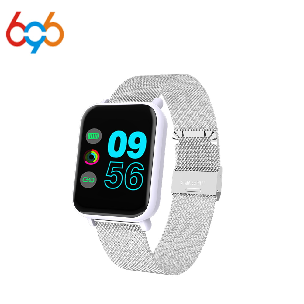 696 Fitness Smart R6 Bracelet Full Screen Touch Sports Meter Step Heart Rate Monitoring Intelligent Reminder Multi-Language