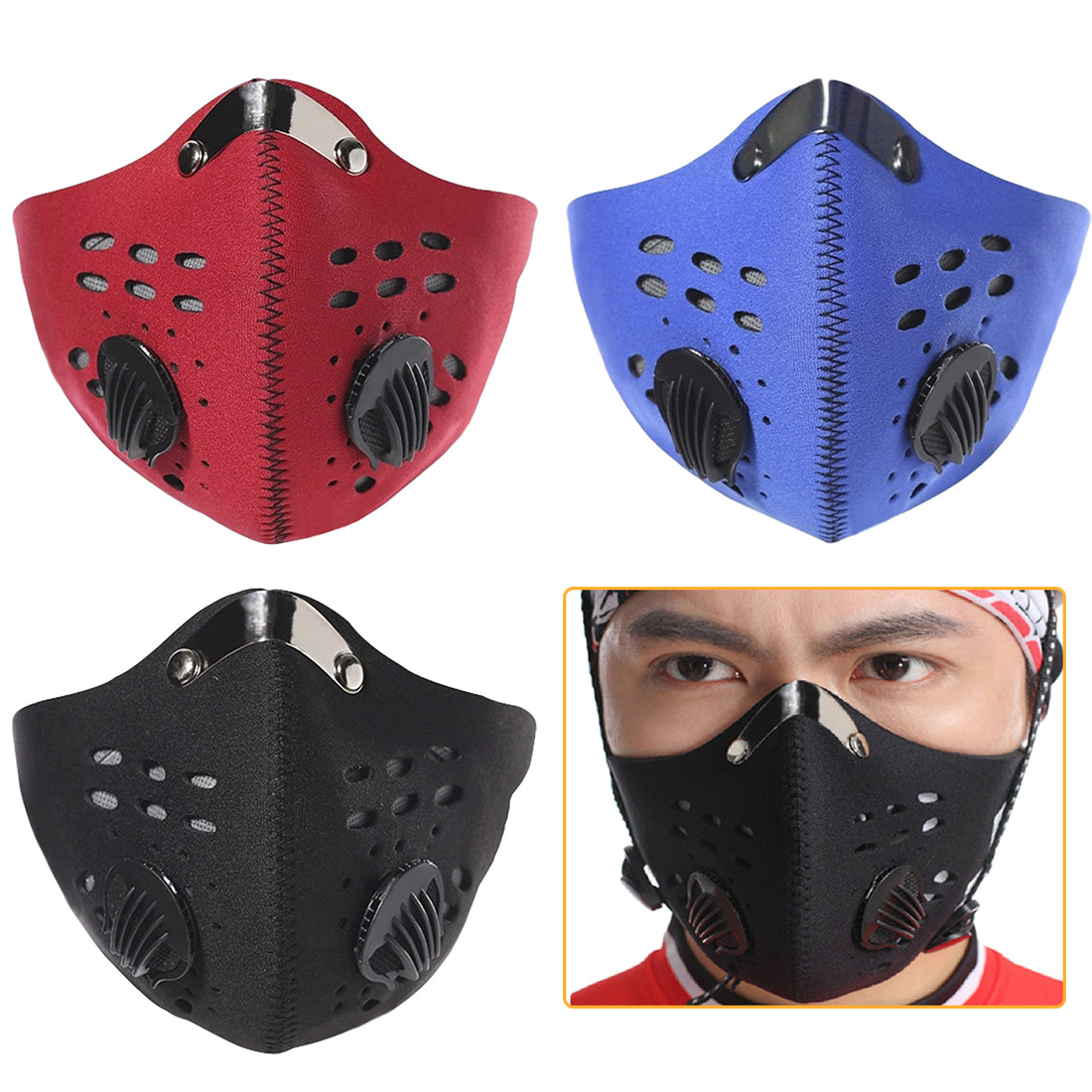 Activated High Quality  Carbon Training Mask Cycling Mask Men And Women Filter Half Face Cycling Mask