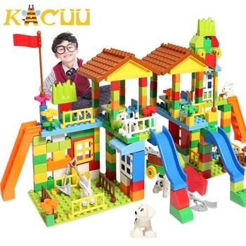 226/113 PCS Big Size Blocchi Compatibili Duploed Costruzione Building Block Parco di Divertimenti di Montaggio FAI DA TE Giocattoli Dei Mattoni Per I Bambini 1