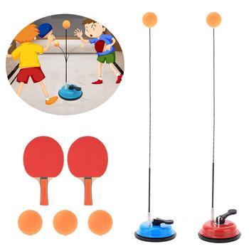 Tenisówka stołowa z elastycznym miękkim wałkiem ping pong narzędzia szkoleniowe dla dzieci akcesoria treningowe dla dzieci tanie i dobre opinie WOMEN