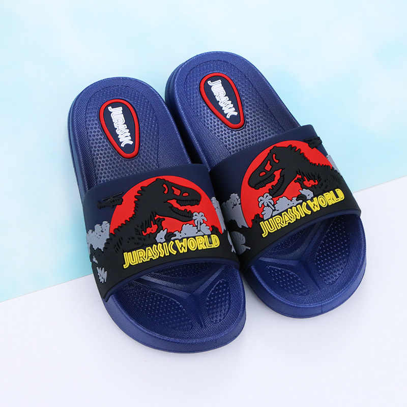 קיץ ילד נעלי ילדי נעלי דינוזאור החלקה רך תחתון ילדים כפכפים חוף ילדים מקורה נעלי קטן/אמצע /גדול