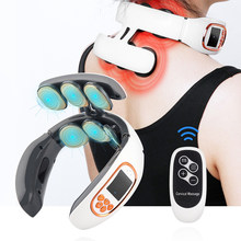 Appareil de Massage Intelligent TENS Pulse pour le cou et le dos, soulagement de la douleur cervicale, pétrissage, contrôle de puissance