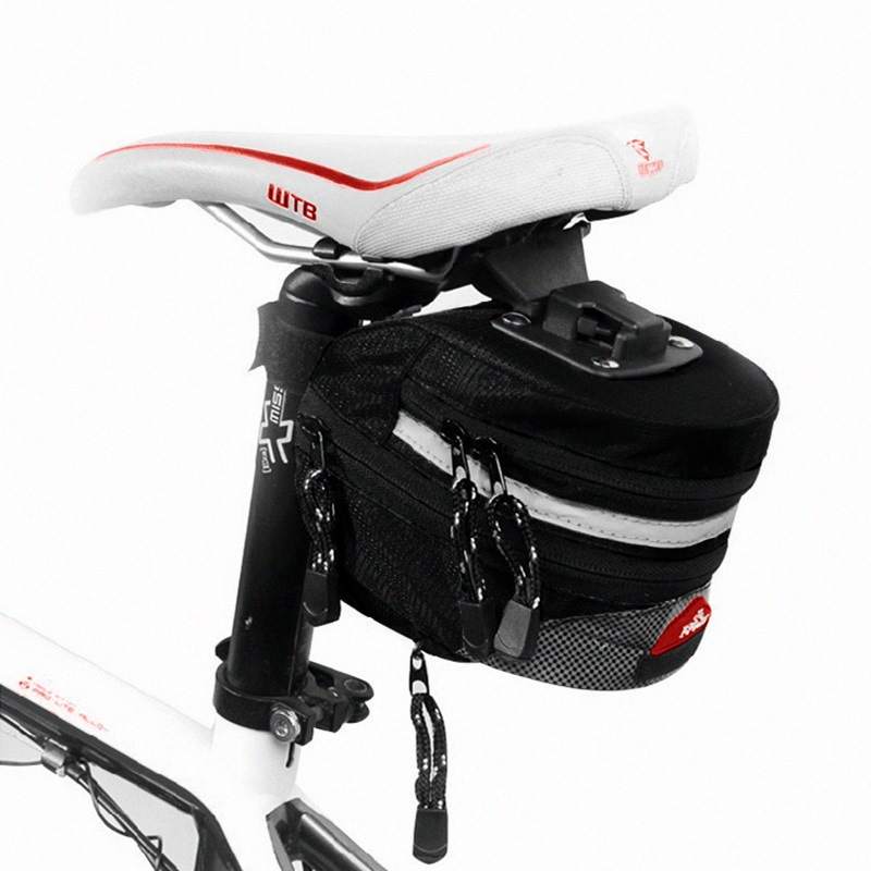 MTB Mountain Bike Tail Bag Road Bicycle Cycling Seat Saddle Pouch Accessory