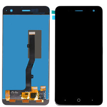 For ZTE Blade V8 Mini Full LCD Display + Touch Screen Digitizer Assembly Module Replacement Parts 5 inch white black for zte voyage 4 blade a610 lcd display touch screen digitizer assembly replacement free tools