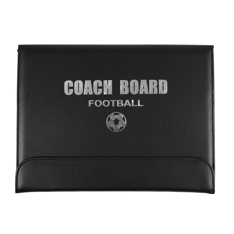 Hot AD-Portable Trainning Assisitant Equipments Football Soccer Tactical Board 2.5 Fold Leather Useful Teaching Board
