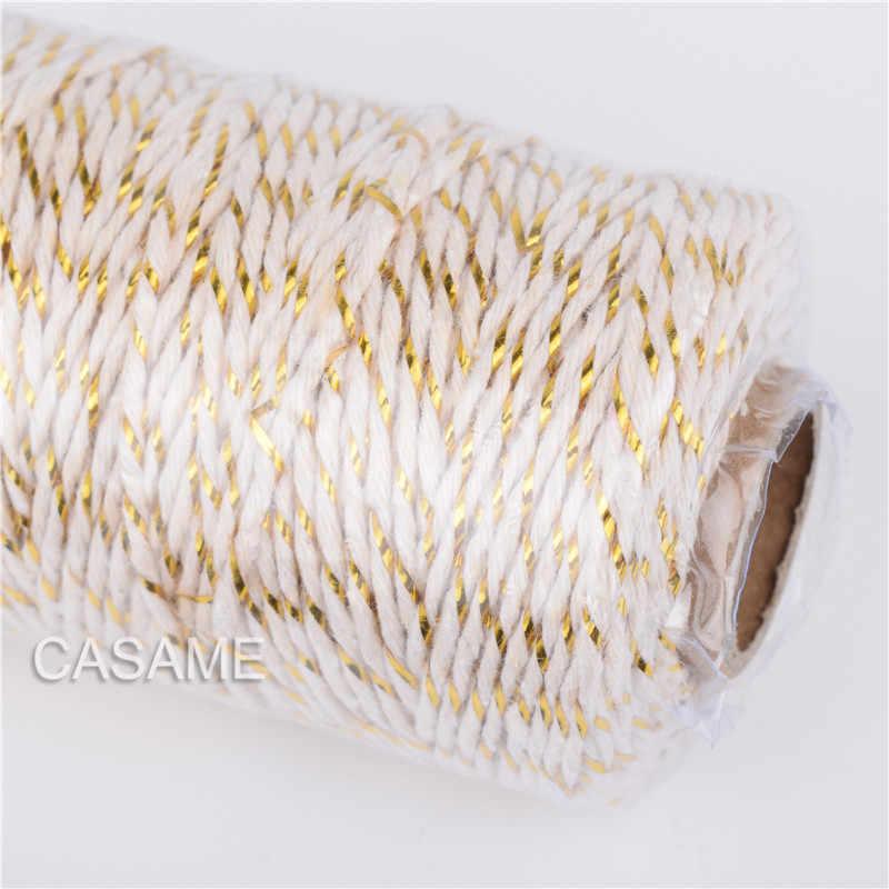 Corda di canapa naturale 100m, corda di canapa, regalo di nozze, cordoncini, filo, fai da te, Scrapbooking, fioristi, artigianato
