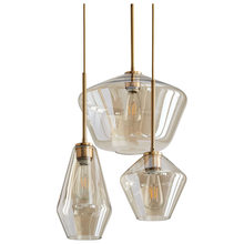 Nordic Modern Minimalist Staircase Restaurant Bar Shop Living Room Industrial Style Champagne Glass Pendant Lamps E27