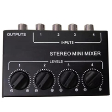 Cx400 Mini Stereo Rca 4-Channel Passive Mixer Small Mixer Mixer Stereo Dispenser for Live and Studio