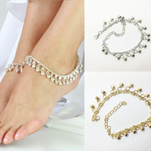 цена на Fashion Silver Gold Color Gypsy  Bell Charm Ankle foot Chain Belly Dance Bracelet Anklet