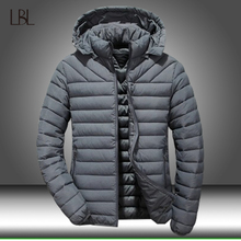 Зимняя мужская куртка с капюшоном, толстая теплая парка на утином пуху, мужская повседневная тонкая куртка, Мужское пальто 2020, новые модные парки Плюс 5XL