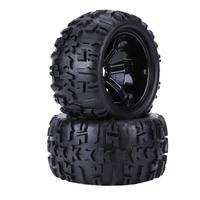 4 stücke Universal RC Auto Reifen Set Kunststoff Gummi Reifen Reifen & Rad Felgen 17mm Naben für 1/8 RC lkw Auto Ersatzteile Zubehör